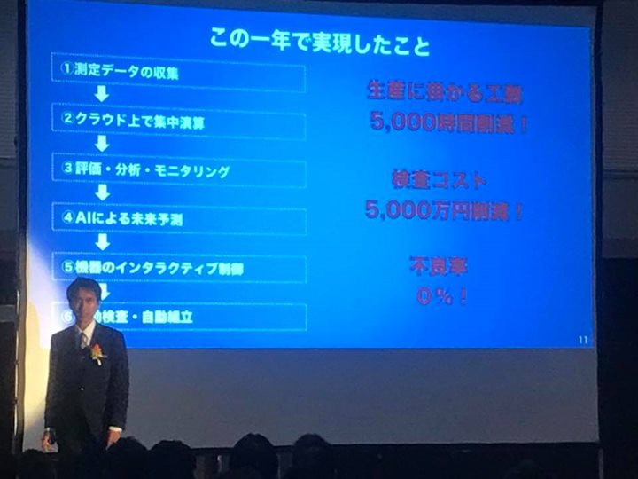 Suwaconvalley  IoT Summit2018  主催者セミナーで実績と夢を語る原田社長。