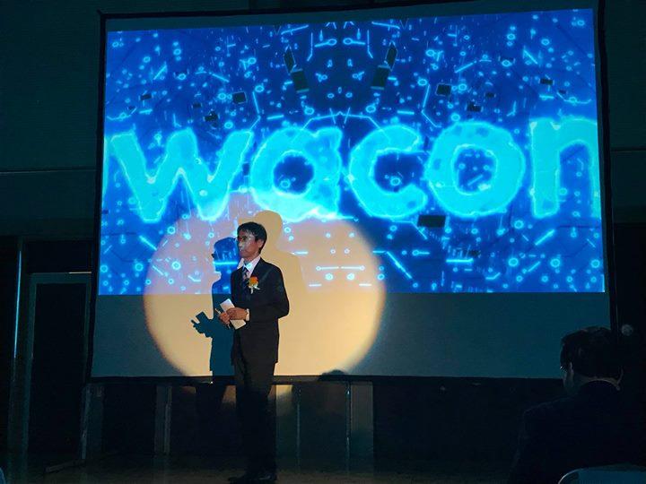 SuwaconVally IoT Summit 2018始まりました!実行委員長をつとめます弊社原田社長のオープ二ングは気合いの入ったイメージムービーをバッグに。